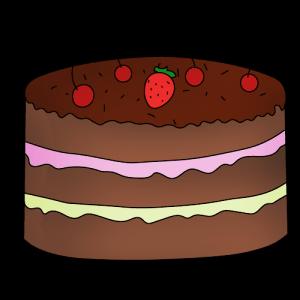Торт нарисовать поэтапно с детьми