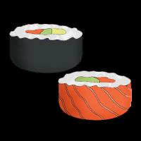 Как нарисовать ролы и суши