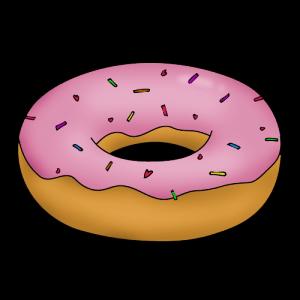 Как нарисовать пончик поэтапно