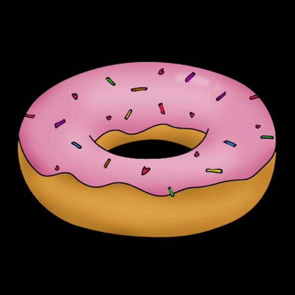Пончик нарисовать поэтапно с детьми