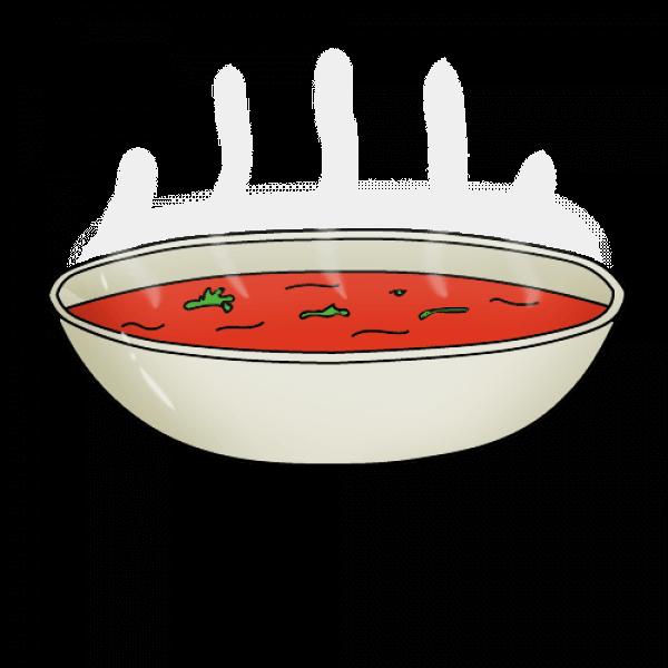 Суп нарисовать поэтапно с детьми