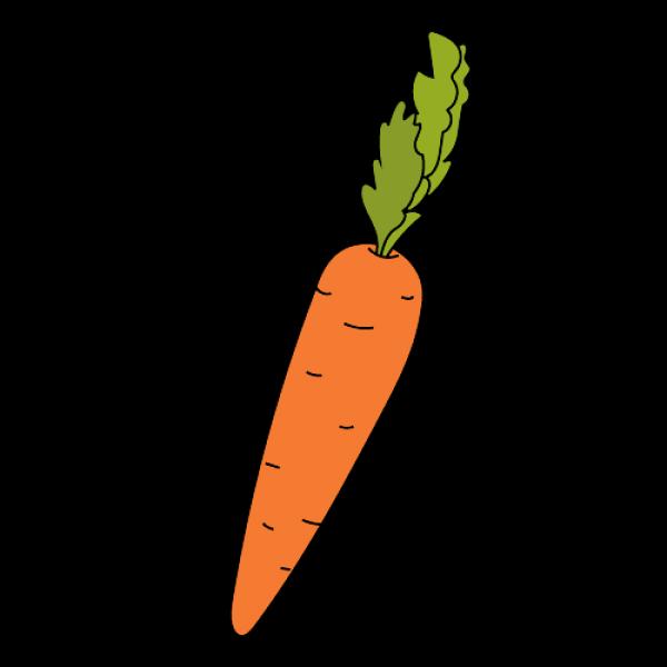 Морковь нарисовать поэтапно с детьми